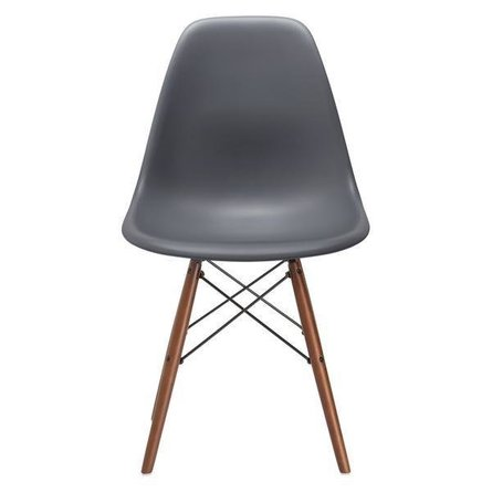 Buran Dining Chair Walnut Base Gray