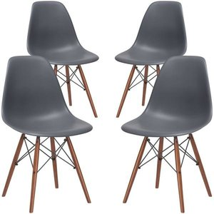 Buran Side Chair Walnut Base (Set Of 4)