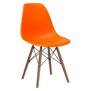 Buran Dining Chair Walnut Base Orange