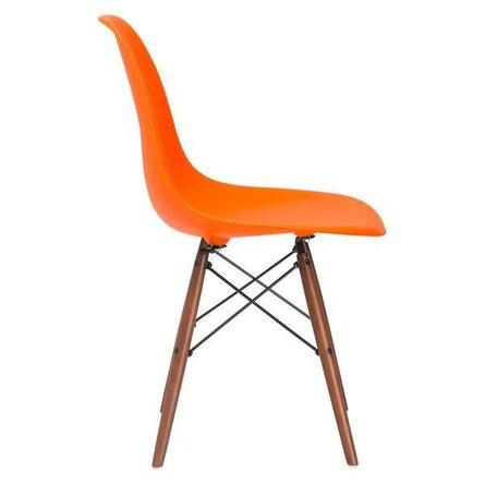 Buran Dining Chair Walnut Base Orange