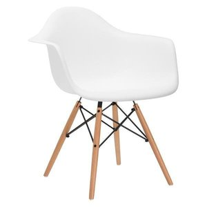 Buran Arm Chair White