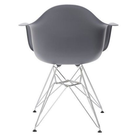 Bora Arm Chair Chrome Base Gray