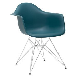 Bora Arm Chair Chrome Base Teal