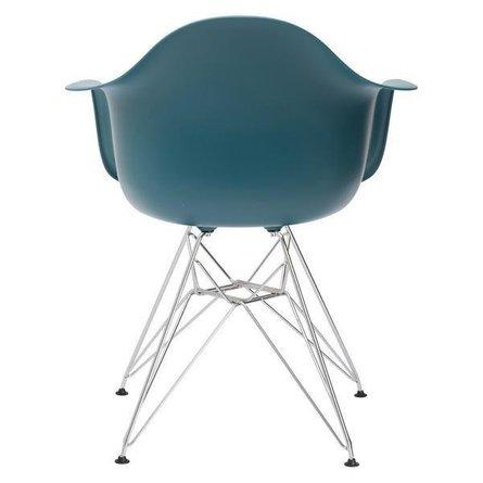 Bora Arm Chair Chrome Base Teal