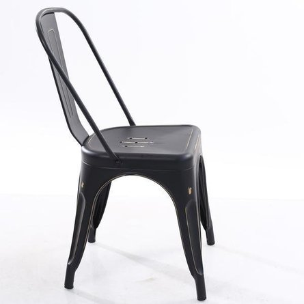 Holsak Dining Chair Dark Distressed Black (Set Of 2)