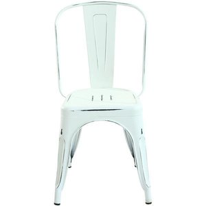 Holsak Dining Chair Dark Distressed White (Set Of 2)