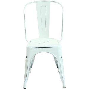 Holsak Dining Chair Dark Distressed White (Set Of 2)