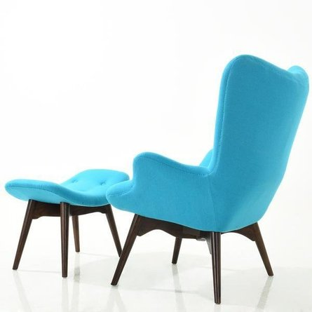 Mag Lounge Chair And Ottoman Blue
