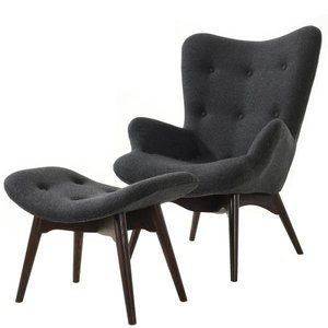 Mag Lounge Chair And Ottoman Gray