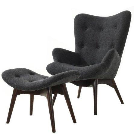 Mag Lounge Chair And Ottoman Gray