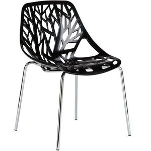 Treeform Side Chair Black (Set Of 4)