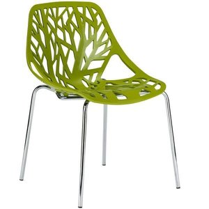 Treeform Side Chair Green (Set Of 4)