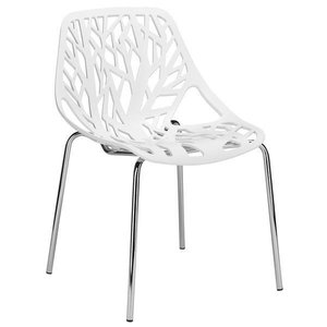 Treeform Side Chair White (Set Of 4)
