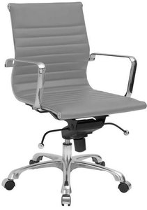 Acinola Mid Back Office Chair Gray