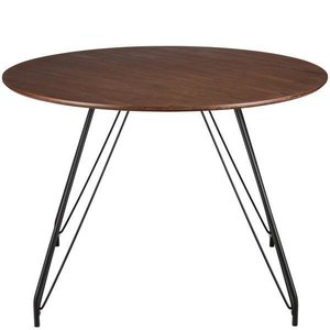 Shamal Hairpin Dining Table Walnut