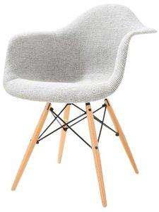 Buran Padded Arm Chair Natural Base Gray