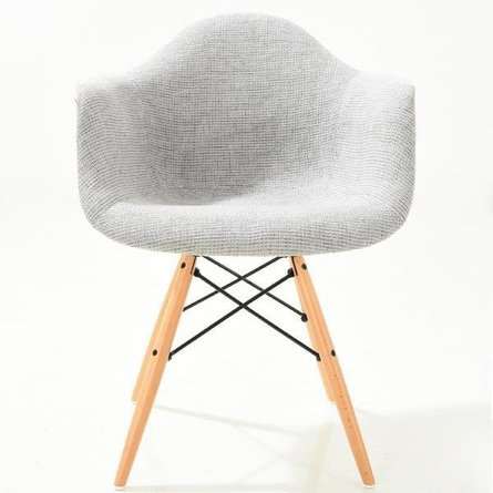 Buran Padded Arm Chair Natural Base Gray