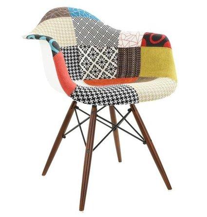 . Buran Padded Arm Chair Walnut Base