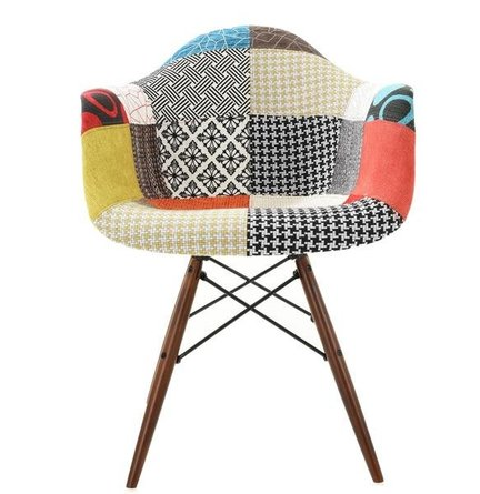 Buran Padded Arm Chair Walnut Base