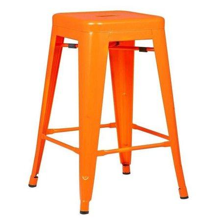 "Holsak 24"" Counter Height Stool Orange (Set of 2)"
