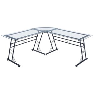 Lonbran L-Shaped Desk Black