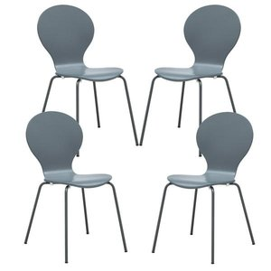Petal Dining Chair Gray (Set of 4)