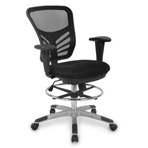 Ethen Drafting Chair In BlacK