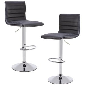 Walser Adjustable Barstool Black (Set of 2)