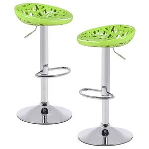 Bryant Adjustable Barstool Green (Set of 2)