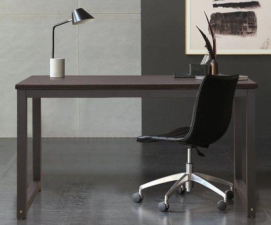 Lauren Office Desk Dark Walnut & Black