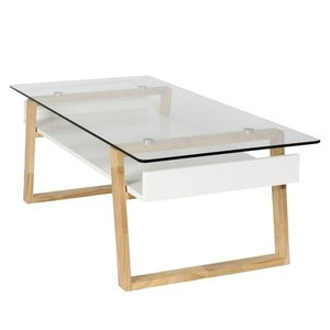 Anderson Glass Top Coffee Table Natural