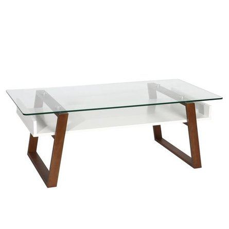 Anderson Glass Top Coffee Table Walnut