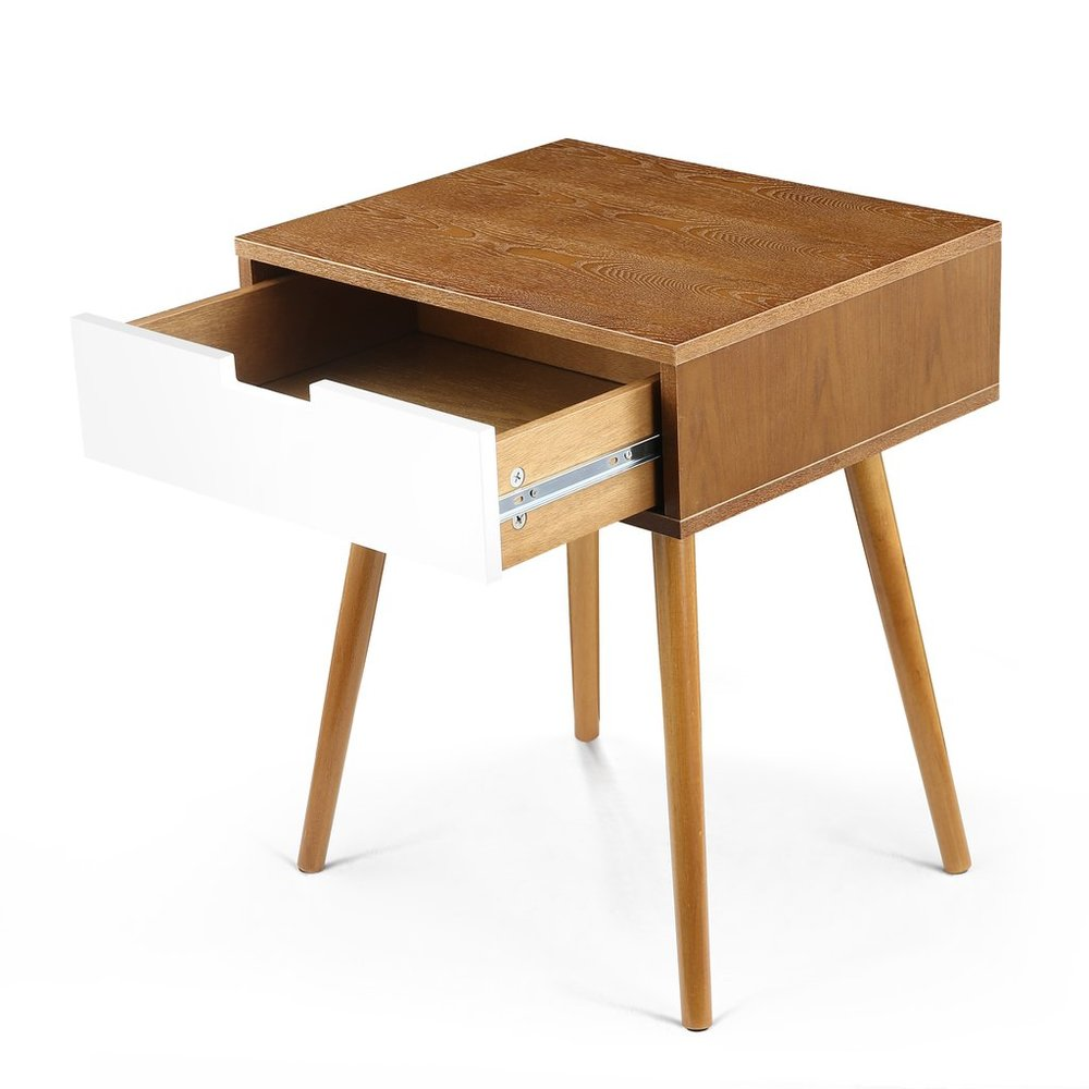 Sylvester Side Table Walnut And White In La Side Tables Bureauone