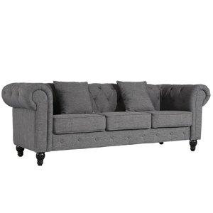 Caprise Chesterfield Sofa Gray