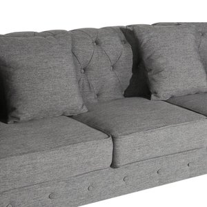 Caprise Chesterfield Sofa Gray