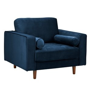Inga Chair With Velvet Blue