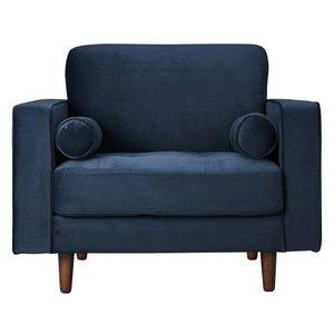 Inga Chair With Velvet Blue