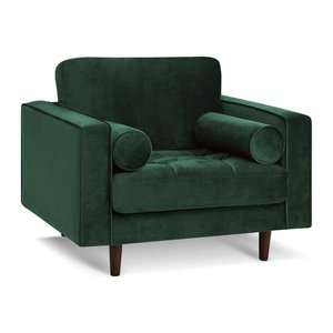 Inga Chair With Velvet Hunter Green