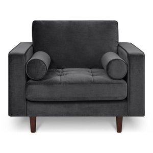 Inga Chair Velvet Volcanic Gray