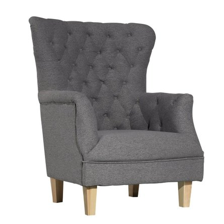 Huxley Highback Accent Chair Gray