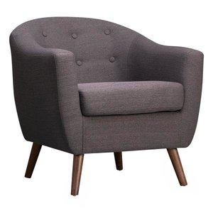 Roland Mid-Century Accent Chair Dark Gray