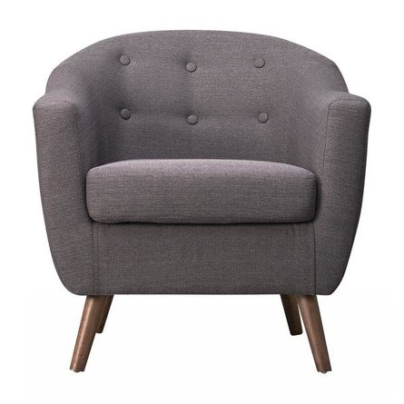 Roland Mid-Century Accent Chair Dark Gray