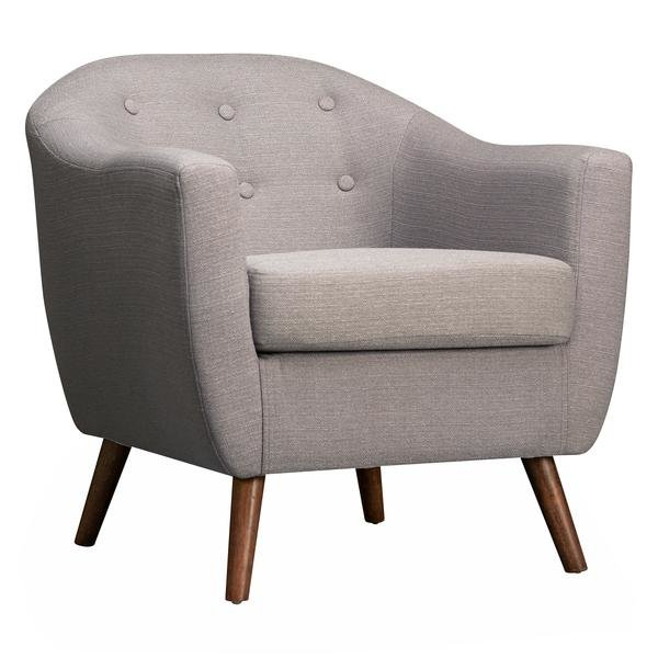 Enjoyable Roland Mid Century Accent Chair Light Gray Bralicious Painted Fabric Chair Ideas Braliciousco