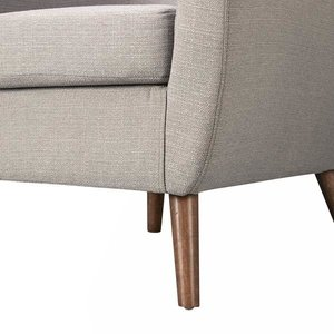 Roland Mid-Century Accent Chair Light Gray