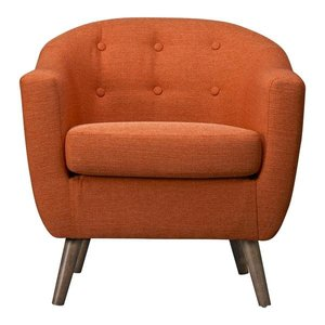 Roland Mid-Century Accent Chair Orange