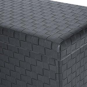 Page Cube Storage Ottoman Black