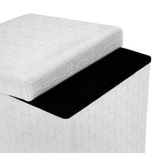 Page Cube Storage Ottoman White
