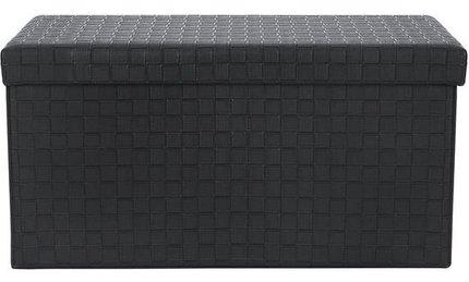 Page Rectangular Storage Ottoman Black