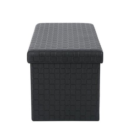 Page Rectangular Storage Ottoman Black