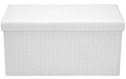 Page Rectangular Storage Ottoman White
